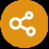 Icône montrant un symbole 'partager'